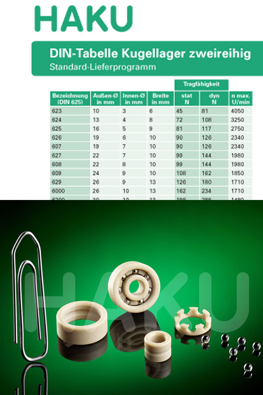 Synthetic Bearing, Plastic Bearing, Lubricant Free Bearing CRB Cuscinetti