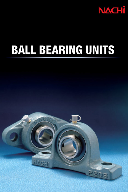 ball bearing units, bearing housing Nachi catalogue